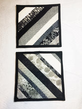 Load image into Gallery viewer, Black and White Pot Holders - Set of 2