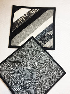 Black and White Pot Holders - Set of 2