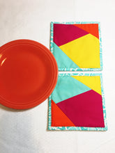 Load image into Gallery viewer, Modern Bright Potholders - Set of 2