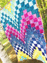 Load image into Gallery viewer, Bright Bargello Baby Quilt