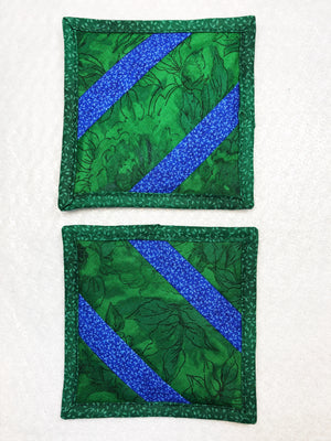 Green and Blue Drink Coaster Set of 2