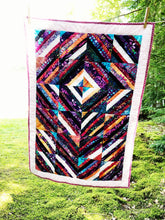 Load image into Gallery viewer, Strip Pieced Diamond Baby Quilt