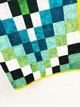 Load image into Gallery viewer, Green Bargello Baby Quilt