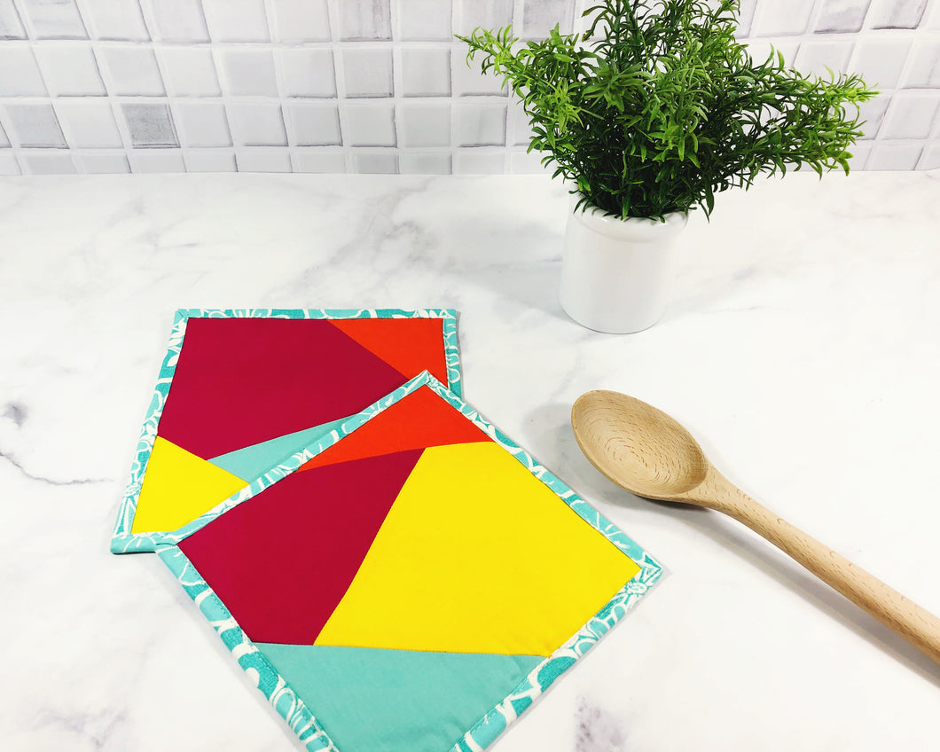 Modern Bright Potholders - Set of 2