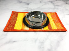 Load image into Gallery viewer, Yellow and Orange Cat Food Mat