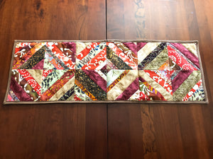 Brown Earth Tone Table Runner