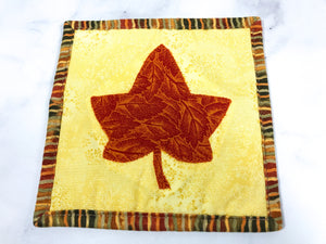 Fall Maple Leaf Mug Rug
