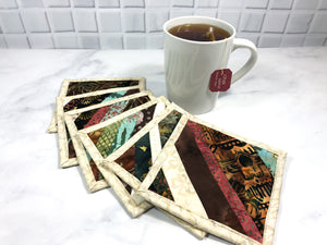 Earth Tone Mug Rug Set of 6