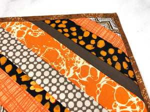 Brown and Orange Potholders - Set of 2