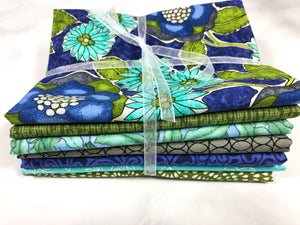 Aqua Blue Fabric Fat Quarter Bundle