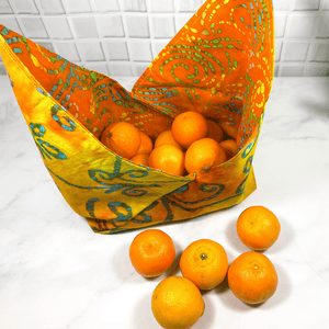 Bento bags are environmentally friendly and a great addition to your zero waste kit.  Uses:  produce bag, lunch bag, knitting bag, reusable gift bag and more.  Washable and made from 100% cotton fabric.