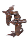 Bronze Life size Grouse Pair in flight