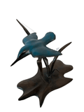 Bronze Kingfisher Diving by Sculptor Andrew Glasby - Limited Edition