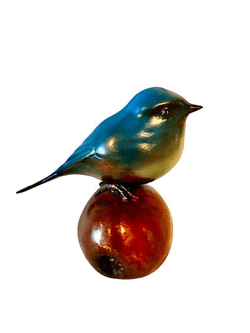 Bronze Blue Tit by Sculptor Andrew Glasby