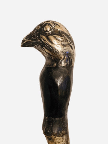 Bronze Grouse Head Walking Stick