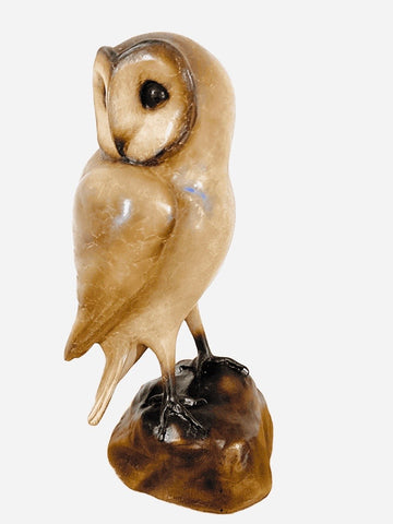 Bronze Barn Owl by Sculptor Andrew Glasby - Limited Edition