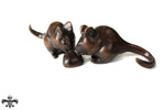 Bronze Dormouse Pair by Sculptor Andrew Glasby - Open Edition