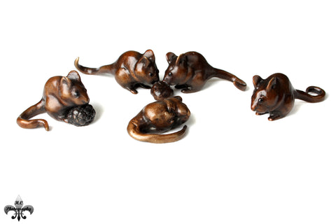 Bronze Dormouse Collection by Sculptor Andrew Glasby - Open Edition