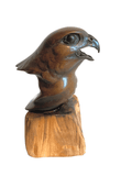 Bronze Peregrine Head by Sculptor Alan Glasby OBE GM - Open Edition