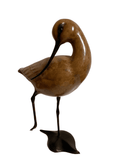 Life size Bronze Avocet head turned