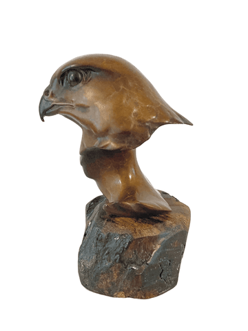 Peregrine Head by Sculptor Alan Glasby OBE GM - Open Edition