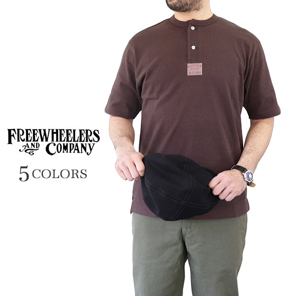 FREEWHEELERS LATE 1800s --EARLY 1900s STYLE UNDERWEAR HENLEY NECKED TYPE SHORT SLEEVE SHIRT GREAT LAKES WOVEN LABEL