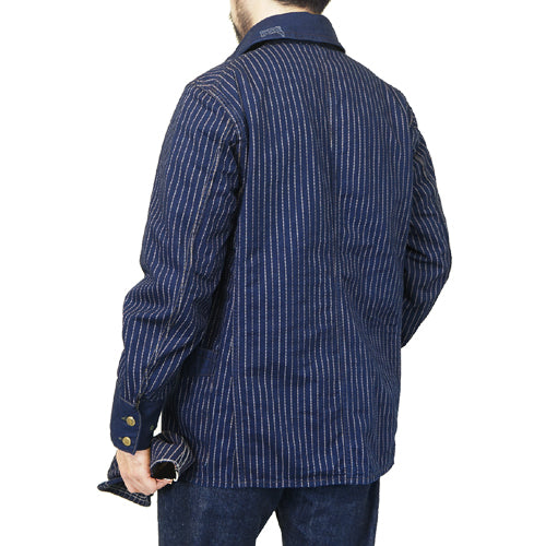 FREEWHEELERS <br>フリーホイーラーズ <br>GOLDEN SPIKE WORK COAT <br>LATE 1890s ~ STYLE WORK CLOTHING <BR>UNION SPECIAL OVERALLS <BR>INDIGO WABASH STRIPE <BR>