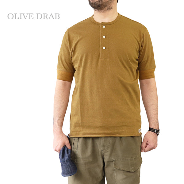FREEWHEELERS LATE 1800s --EARLY 1900s STYLE UNDERWEAR HENLEY NECKED TYPE SHORT SLEEVE SHIRT 4 COLORS