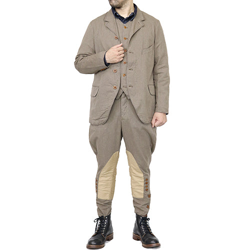 FREEWHEELERS <BR>フリーホイーラーズ <BR>COLUMBIA <BR>GREAT LAKES GMT.MFG.Co. <br>1910-1920s OUTDOOR STYLE SACK COAT <BR>YARN-DYED TWILL <BR>GRAINED BEIGE <BR>