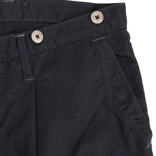 FREEWHEELERSFreewheelers MILLER TROUSERS LATE 1800s STYLE TROUSERS GREAT LAKES GMT.MFG.CO. COTTON LINEN CHINO CLOTH NAVY