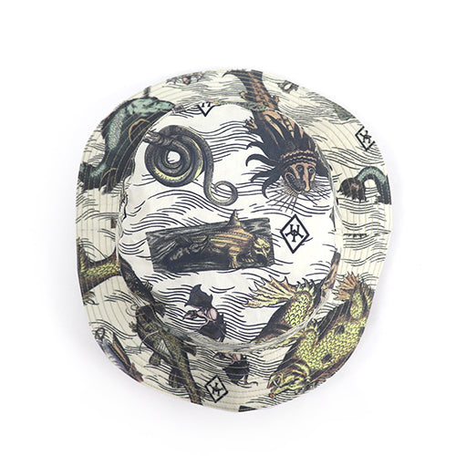 FREEWHEELERS <BR>フリーホイーラーズ <BR>ADVENTURE COLLECTION <BR>OUTDOOR HAT <BR>ULTIMA THULE EQUIPMENT <BR>ANCIENT MONSTERS PRINT <BR>