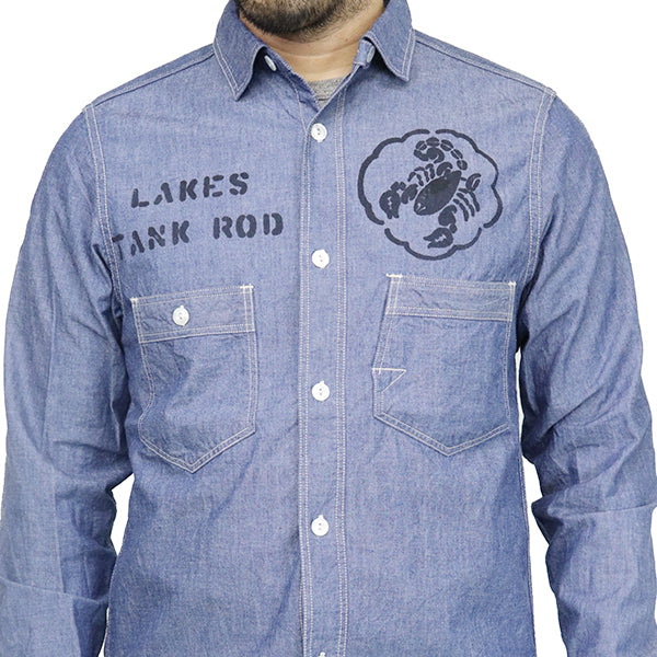 FREEWHEELERS <br>THE LAKES Sweet Sixteen <BR>1920 - 1930s STYLE WORK SHIRTS <BR>6oz INDIGO CHAMBRAY <BR>