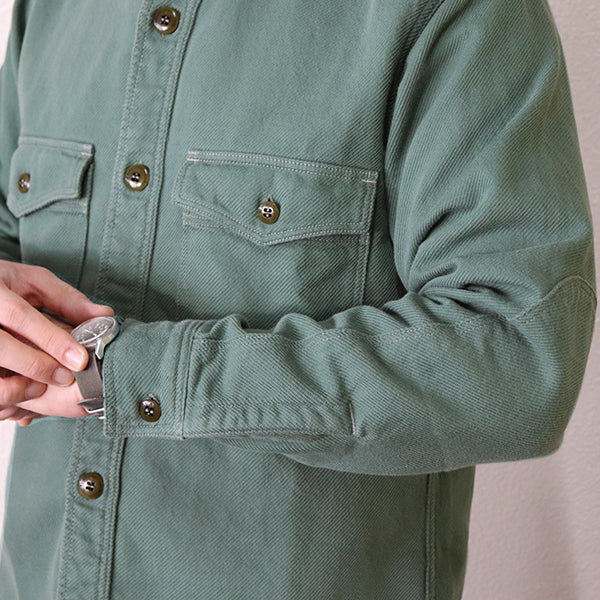 FREEWHEELERS <br>フリーホイーラーズ <br>SKID ROW WORK SHIRT <BR>1930 - 1940s STYLE UTILITY GARMENT <BR>COTTON FLANNEL TWILL <BR>2 COLORS <BR>