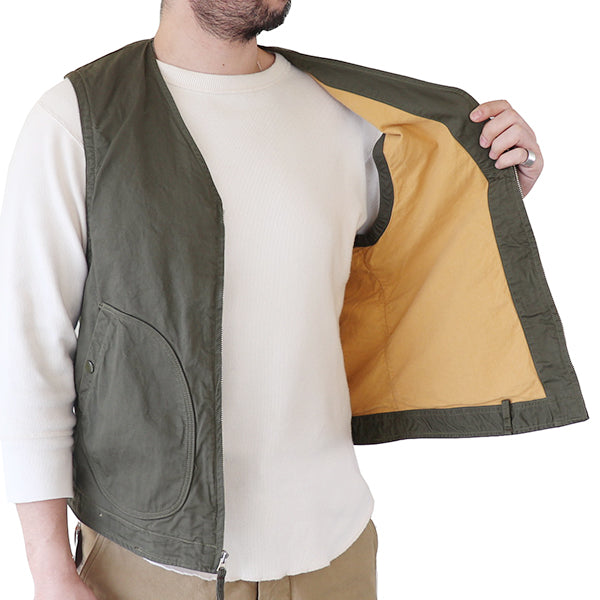 FREEWHEELERS <br>フリーホイーラーズ <br>DECK VEST <br>1930 - 1940s CIVILIAN MILITARY STYLE CLOTHING <BR>MICRO CORD