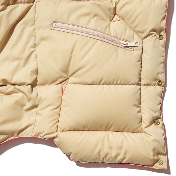 ROCKY MOUNTAIN FEATHERBED HERITAGE COLLECTION CHRISTY VEST RED x TAN MADE IN JAPAN