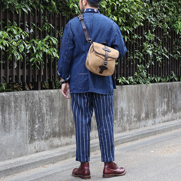 MOJITO (SIZE: W30-W36) GULF STREAM PANT LINEN STRIPE Bar.18.1 2 COLORS MADE IN JAPAN