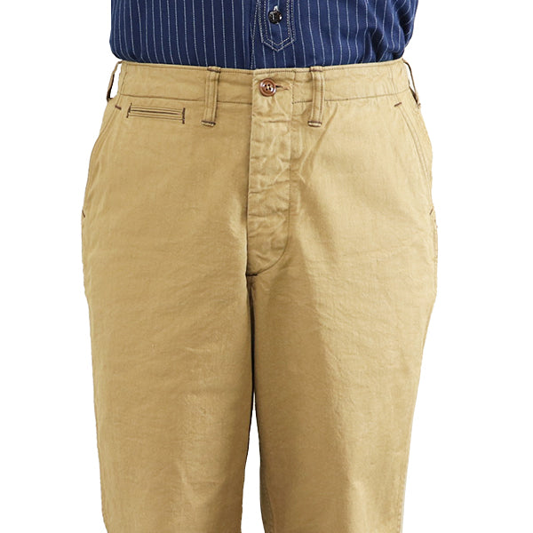 FREEWHEELERSFreewheelers ARMY OFFICER TROUSERS 1930s --1940s CIVILIAN MILITARY STYLE CLOTHING YARN-DYED CHINO CLOTH