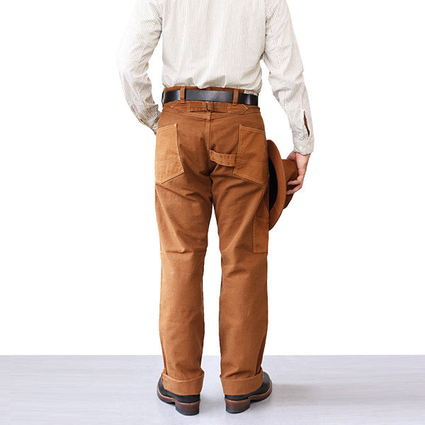 FREEWHEELERS <br>フリーホイーラーズ <br>DERRICKMAN OVERALLS <br>1920 - 1930s STYLE WORK CLOTHING <BR>COTTON DUCK <br>BROWN × LIGHT BROWN <br>