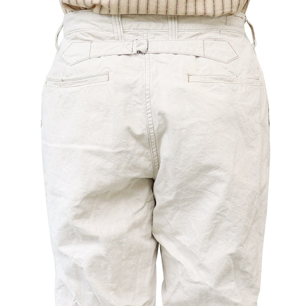 FREEWHEELERSFreewheelers CONSTRUCTION WORKER TROUSERS 1920s --1930s STYLE WORK CLOTHING COTTON x LINEN OXFORD NATURAL