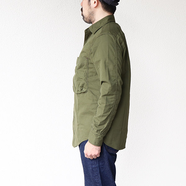 FREEWHEELERS <br>フリーホイーラーズ <br>ADVANCE SECTION, COMMUNICATION ZONE <BR>1930 - 1940s CIVILIAN MILITARY STYLE CLOTHING <BR>TWO PLY YARN CLEAR FINISH <BR>OLIVE DRAB <BR>CUSTOM MODEL <br>