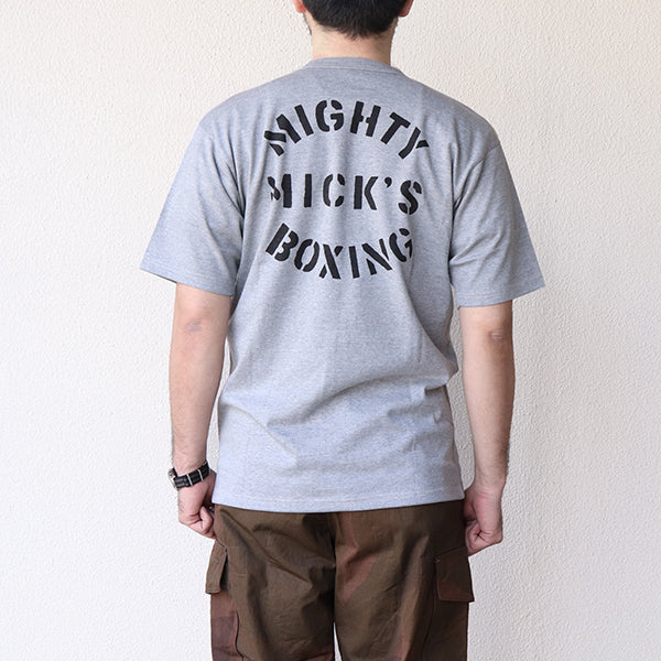 FREEWHEELERS <BR>フリーホイーラーズ <BR>T-SHIRT <BR>MIGHTY MICK'S BOXING GYM <BR>VINTAGE STYLE MEDIUM WEIGHT JERSEY <br>MIX GRAY <BR>