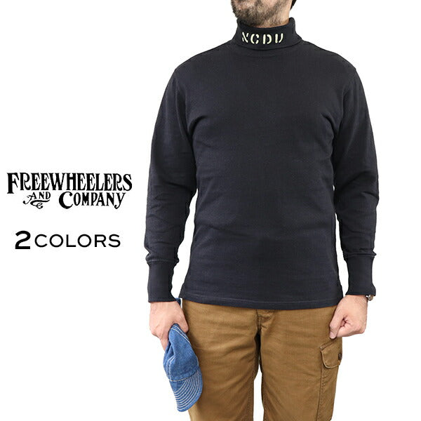 FREEWHEELERS <br>フリーホイーラーズ <br>TURTLE NECK LONG SLEEVE SHIRT <BR>N.C.D.U. 7TH NBB <br>1940s CIVILIAN MILITARY STYLE UNDERWEAR <br>タートルネック カスタムモデル <br>2 COLORS <BR>