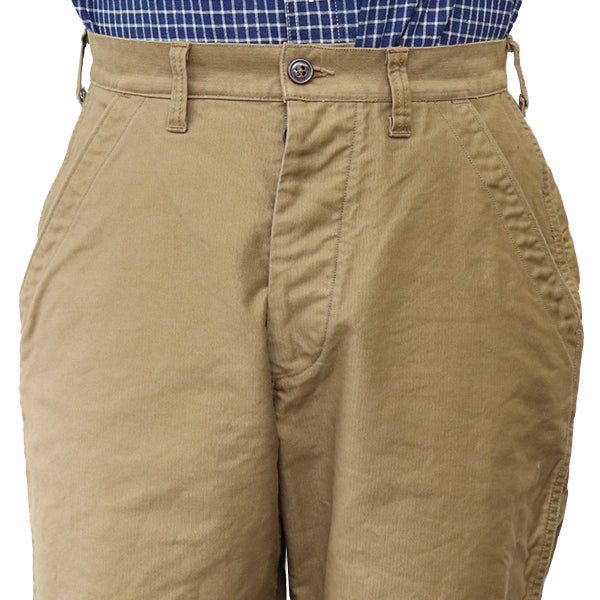 FREEWHEELERS USN UTILITY TROUSERS 1940s --1950s U.S.NAVY STYLE CLOTHING HIGH DENSITY JUNGLE CLOTH 2 COLORS