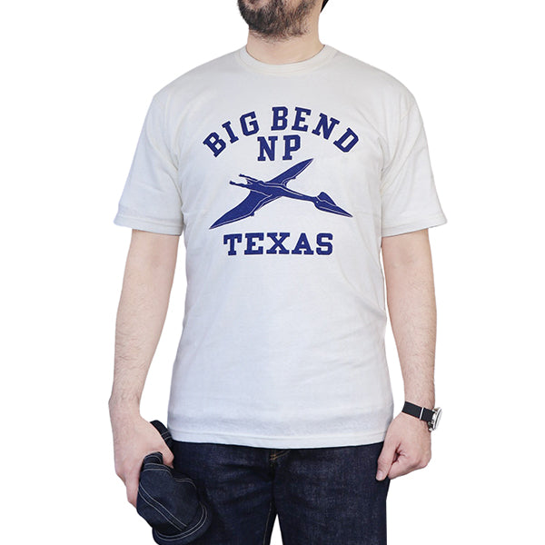 FREEWHEELERS T-SHIRT BIG BEND HOME of US SERIES VINTAGE STYLE LIGHT WEIGHT JERSEY OFF-WHITE