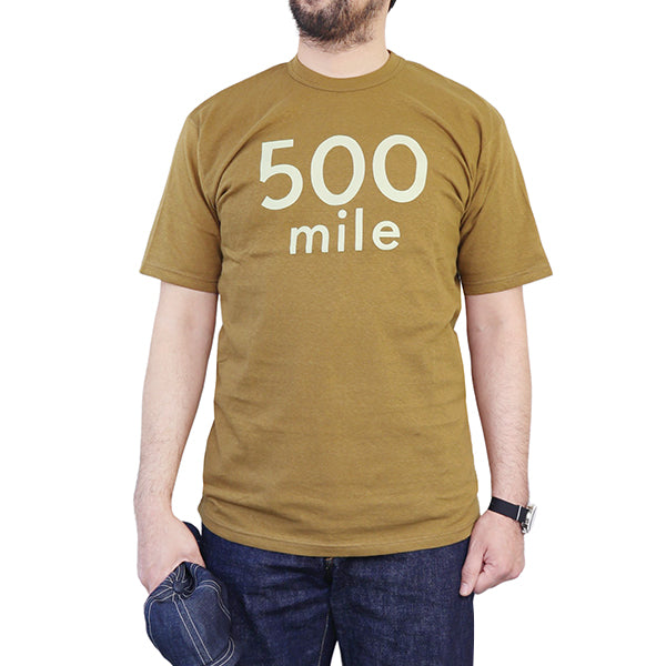 FREEWHEELERS T-SHIRT 500 MILE RACE MOTOR CULTURE SERIES VINTAGE STYLE LIGHT WEIGHT JERSEY OLIVE DRAB