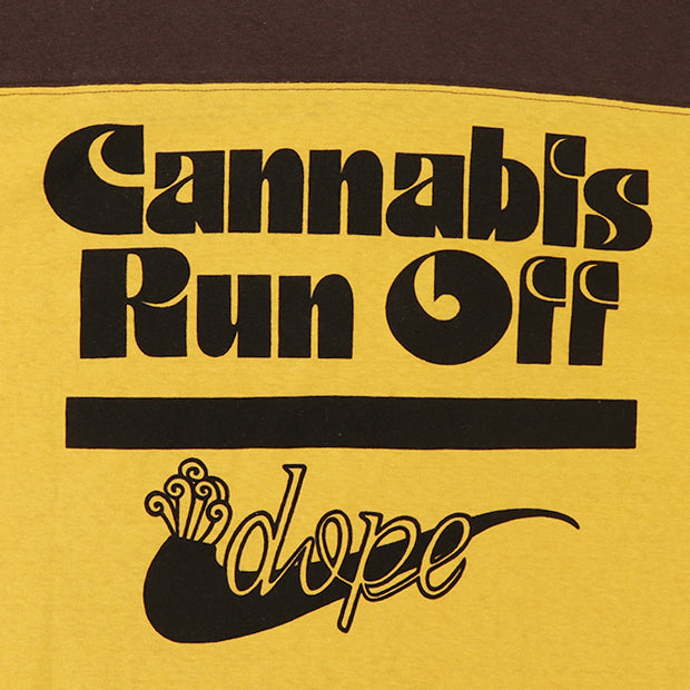 FREEWHEELERS 4/5 SLEEVE FOOTBALL SHIRT CANNABIS RUN OFF VINTAGE STYLE LIGHT WEIGHT JERSEY 2 COLORS