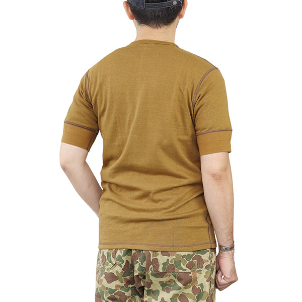 FREEWHEELERS CREW NECK T-SHIRT 1940s MILITARY UNDER WEAR 2 COLORS
