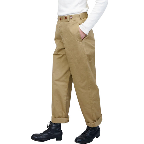 NIGEL CABOURN WOMANNigel Cabourn Woman BASIC MILITARY CHINO PANT BEIGE MAIN LINE