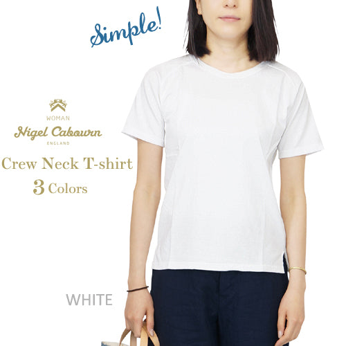 NIGEL CABOURN WOMAN <br>ナイジェル・ケーボン ウーマン <br>CREW NECK T-SHIRT <br>3 COLORS <br>MAIN LINE <br>