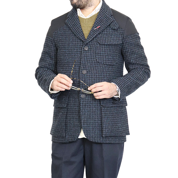 NIGEL CABOURN <br>ナイジェル・ケーボン <br>MALLORY JACKET <BR>HARRIS TWEED × VENTILE <br>BLUE CHECK <BR>AUTHENTIC LINE <BR>